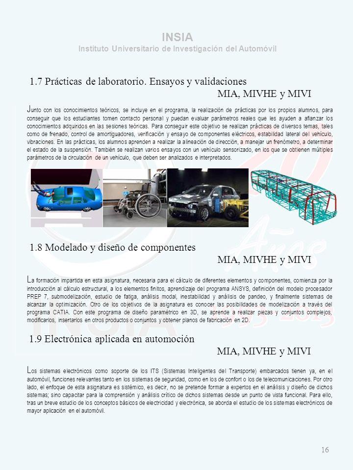 INSIA Instituto Universitario de Investigación del Automóvil