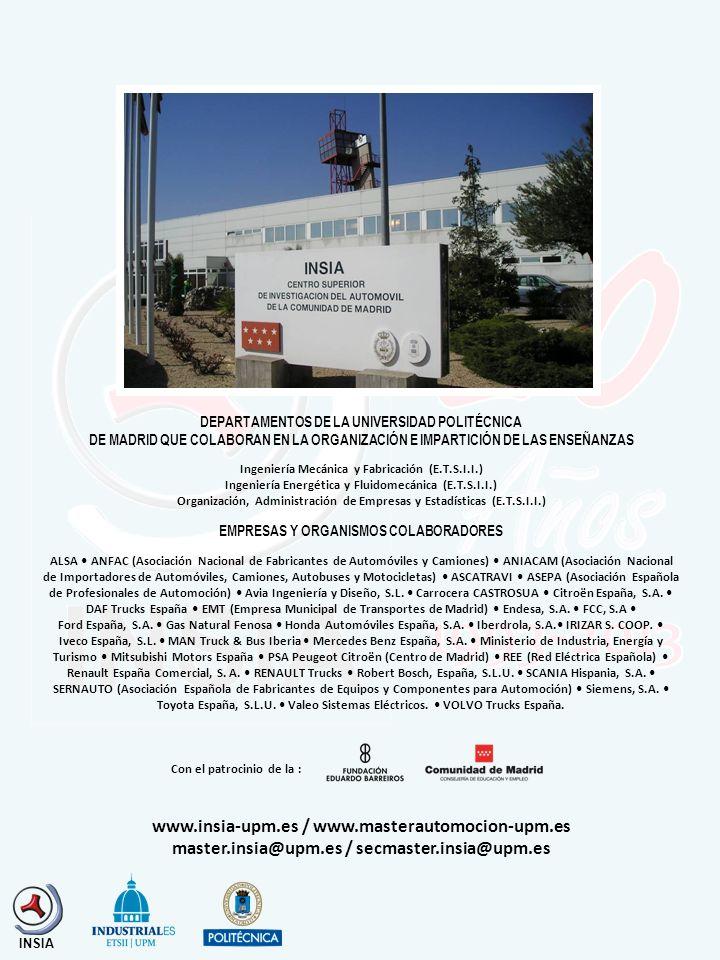 www.insia-upm.es / www.masterautomocion-upm.es