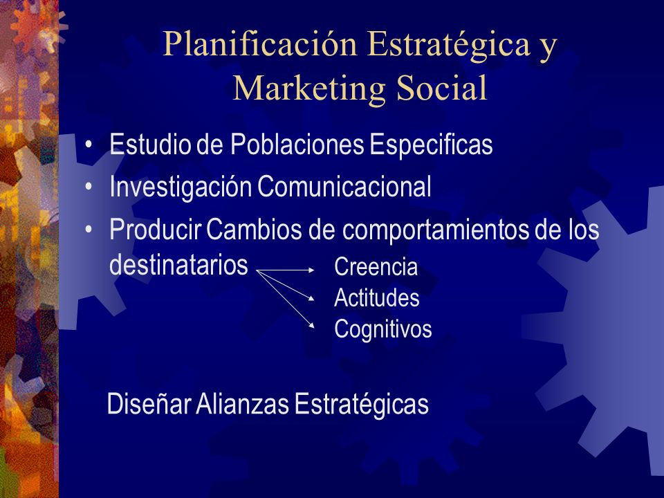 Planificación Estratégica y Marketing Social