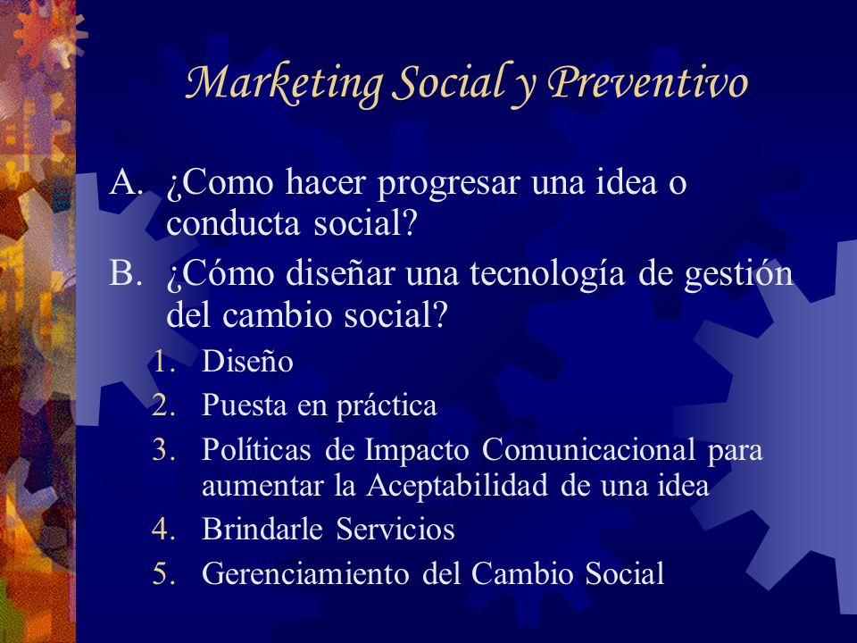 Marketing Social y Preventivo