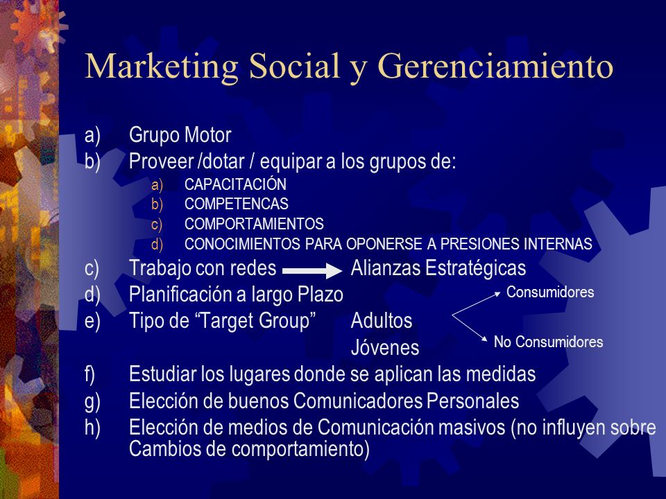 Marketing Social y Gerenciamiento