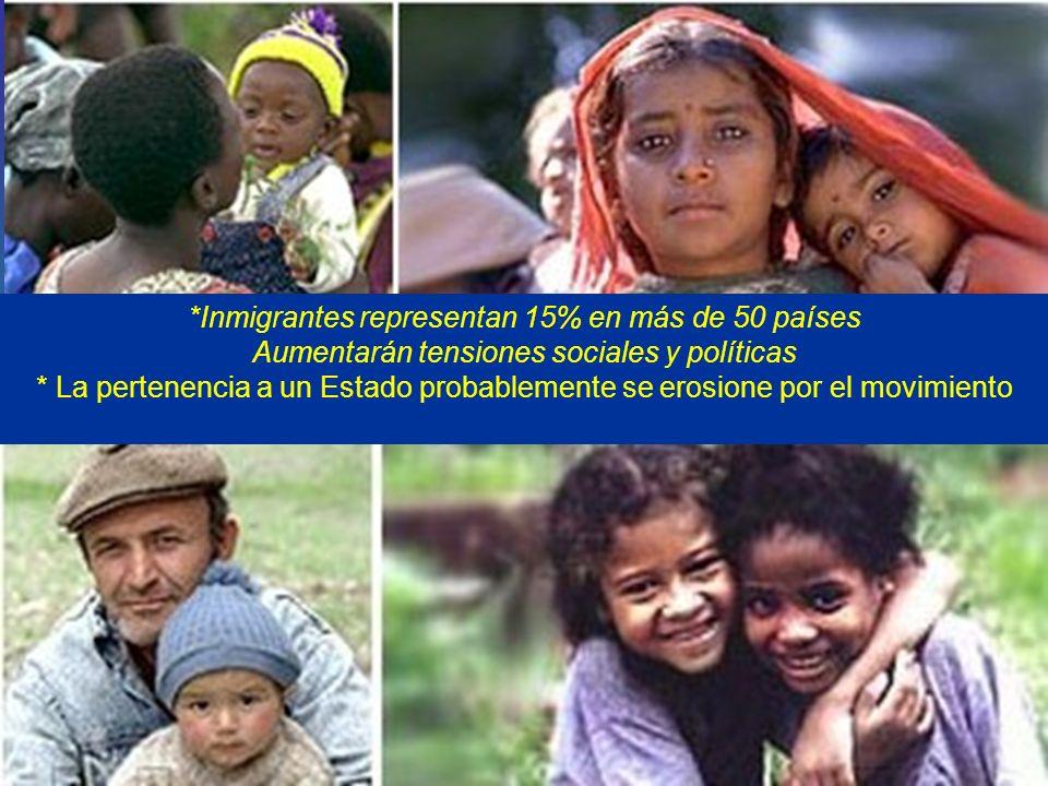 *Inmigrantes representan 15% en más de 50 países Aumentarán tensiones sociales y políticas * La pertenencia a un Estado probablemente se erosione por el movimiento