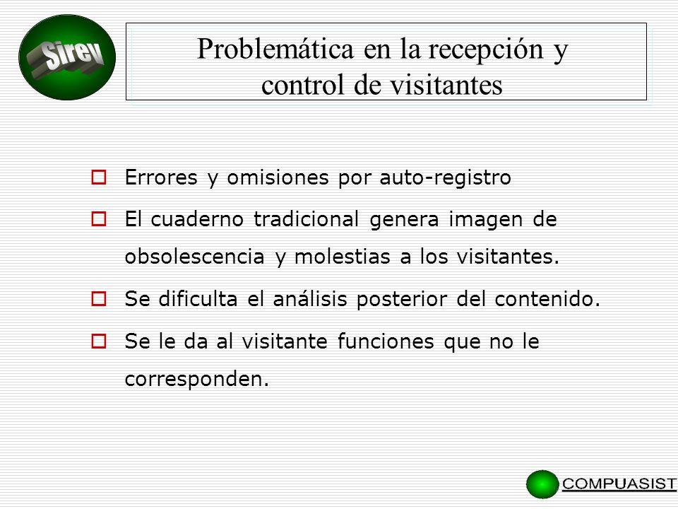 Problemática en la recepción y control de visitantes