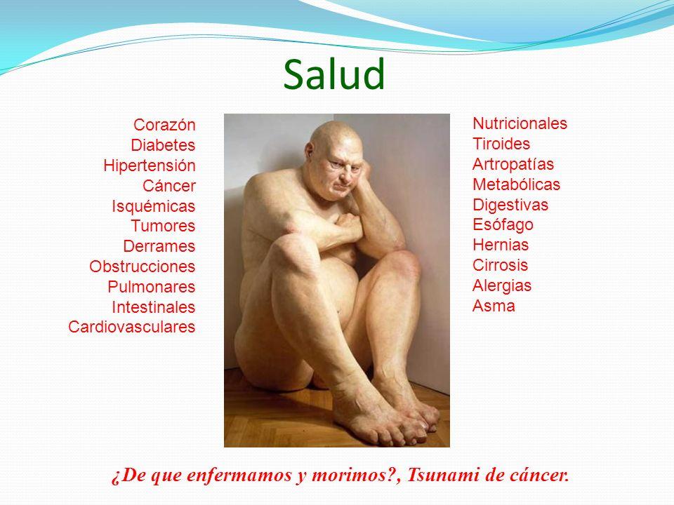 Salud ¿De que enfermamos y morimos , Tsunami de cáncer. Corazón