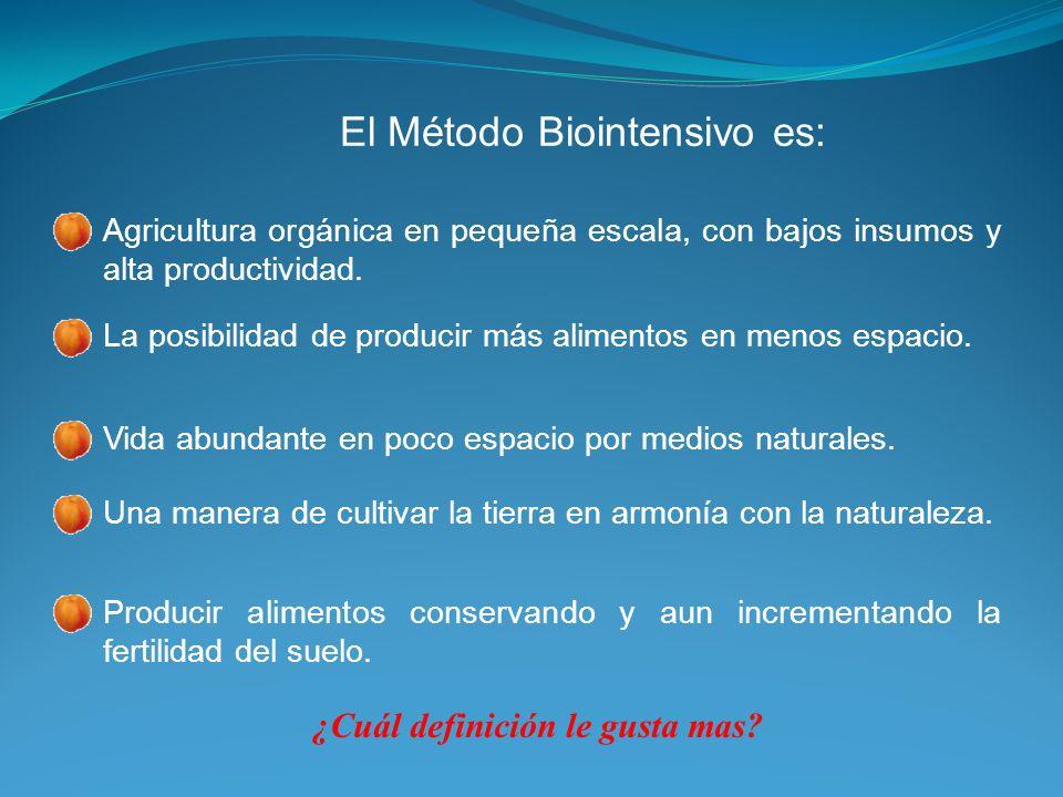 El Método Biointensivo es: