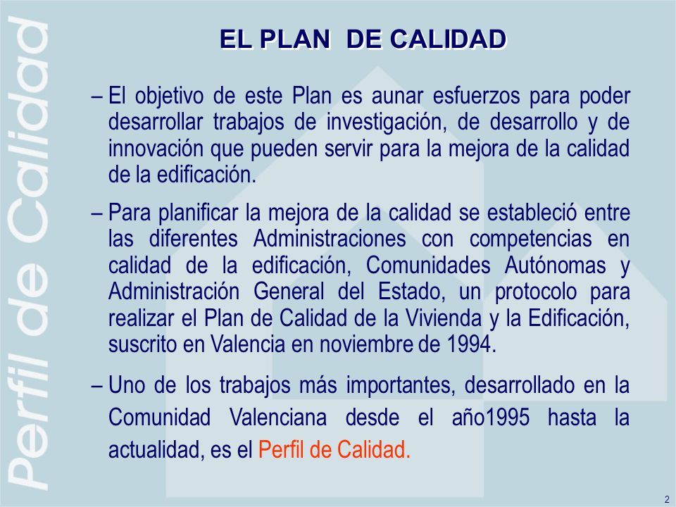 EL PLAN DE CALIDAD