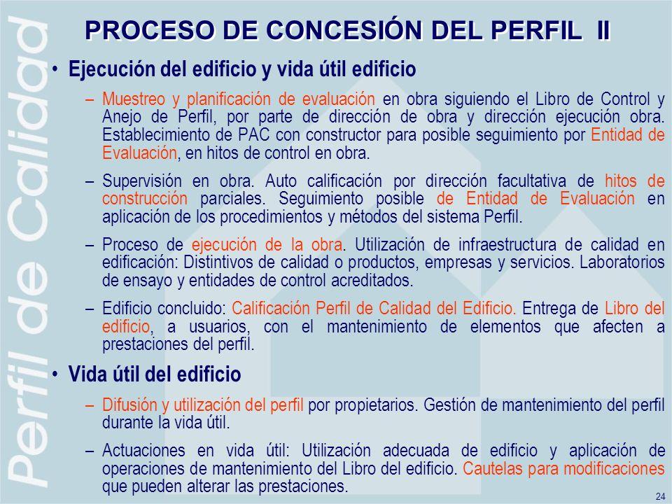 PROCESO DE CONCESIÓN DEL PERFIL II