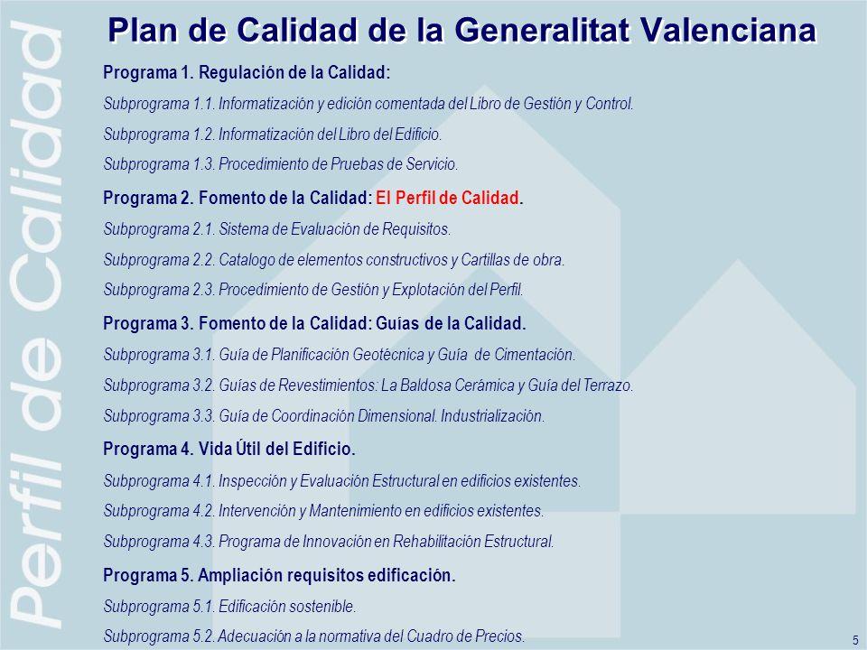 Plan de Calidad de la Generalitat Valenciana