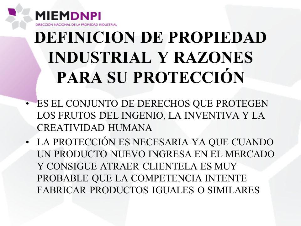 DEFINICION DE PROPIEDAD INDUSTRIAL Y RAZONES PARA SU PROTECCIÓN