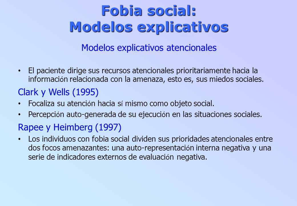 Fobia social: Modelos explicativos