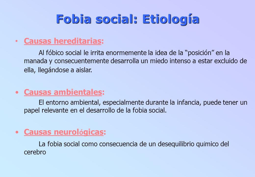 Fobia social: Etiología