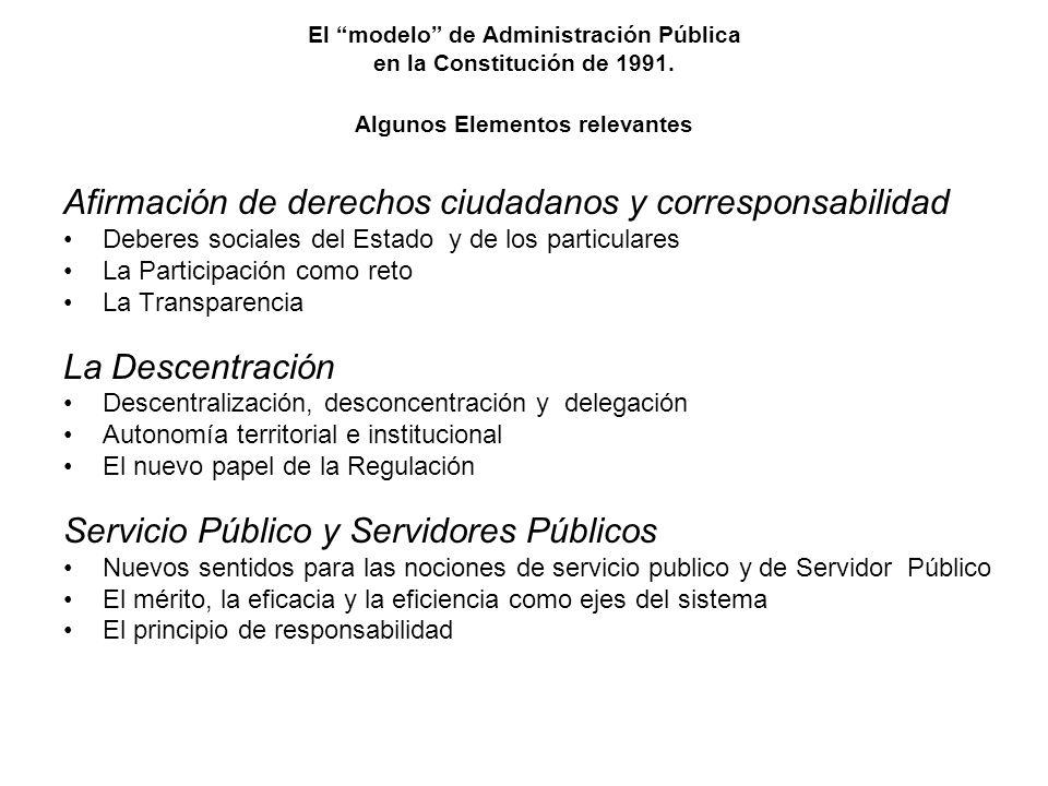 Afirmación de derechos ciudadanos y corresponsabilidad