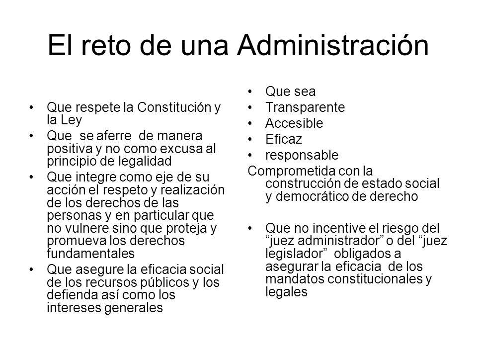 El reto de una Administración