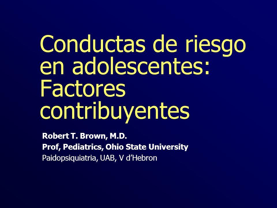 Conductas de riesgo en adolescentes: Factores contribuyentes