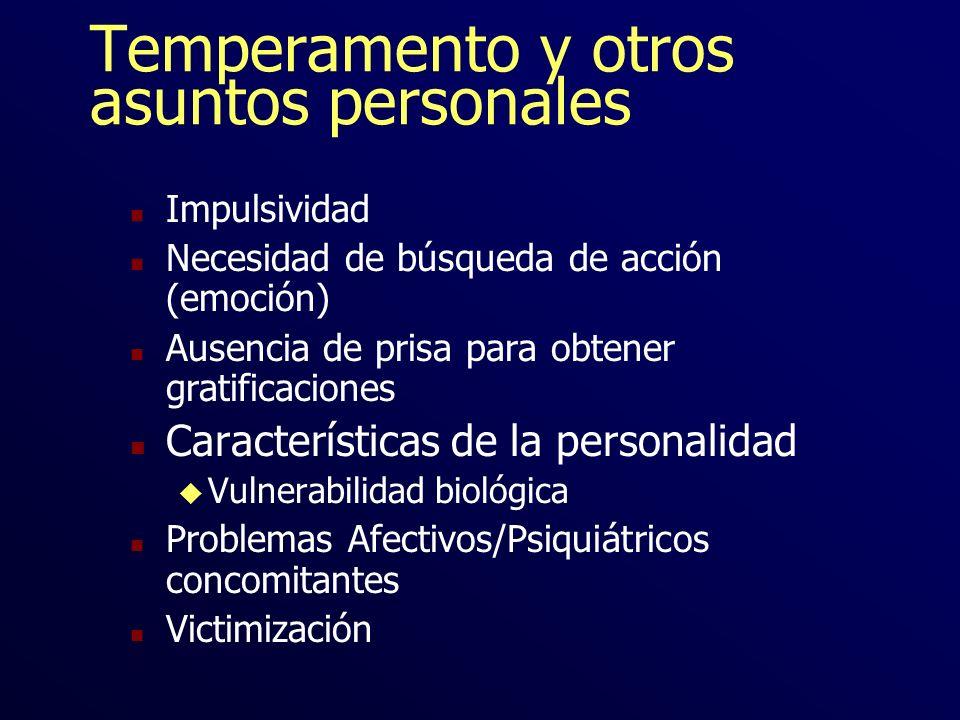 Temperamento y otros asuntos personales