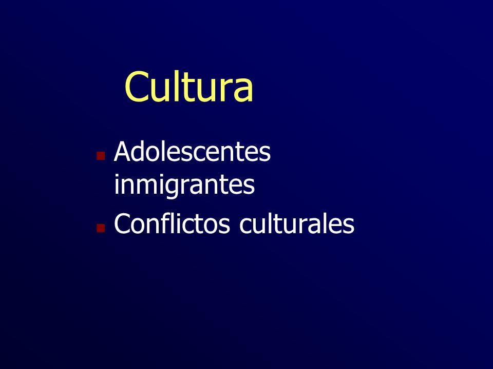 Cultura Adolescentes inmigrantes Conflictos culturales