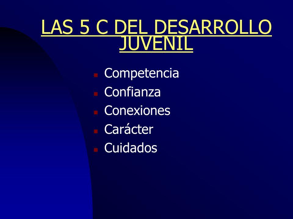 LAS 5 C DEL DESARROLLO JUVENIL