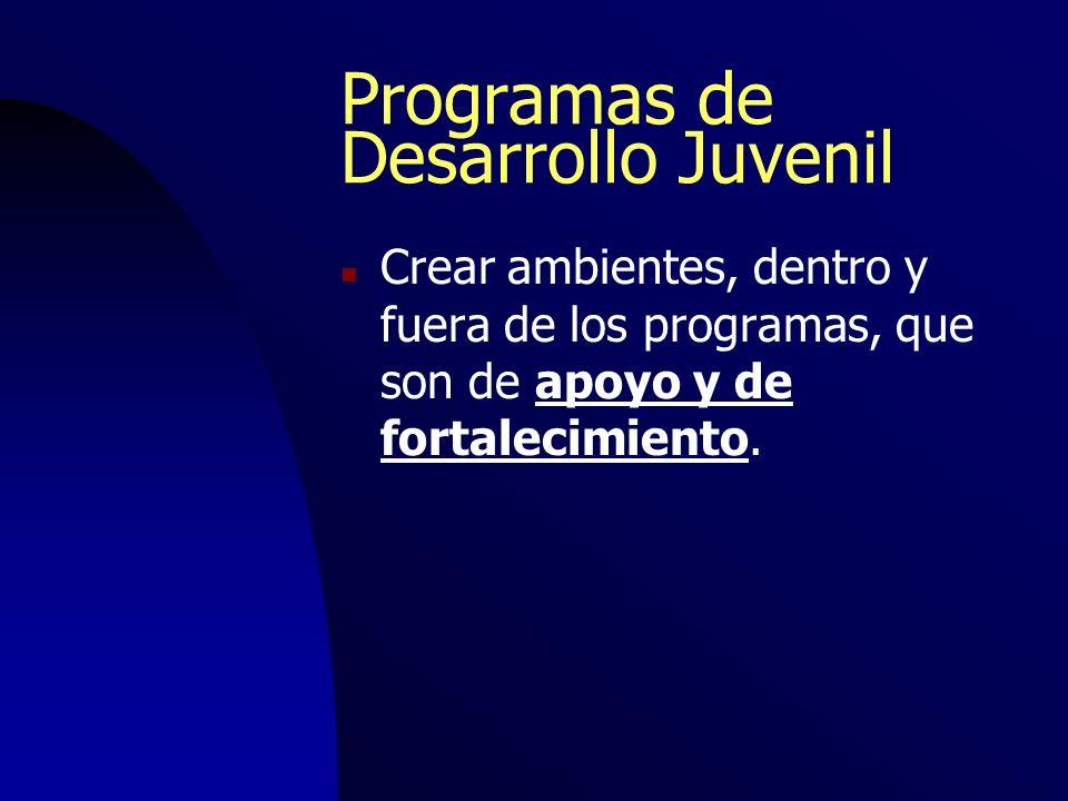 Programas de Desarrollo Juvenil