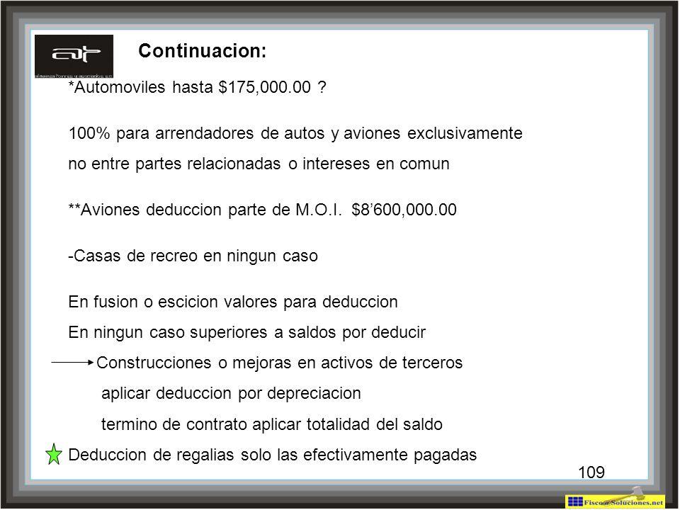Continuacion: *Automoviles hasta $175,000.00