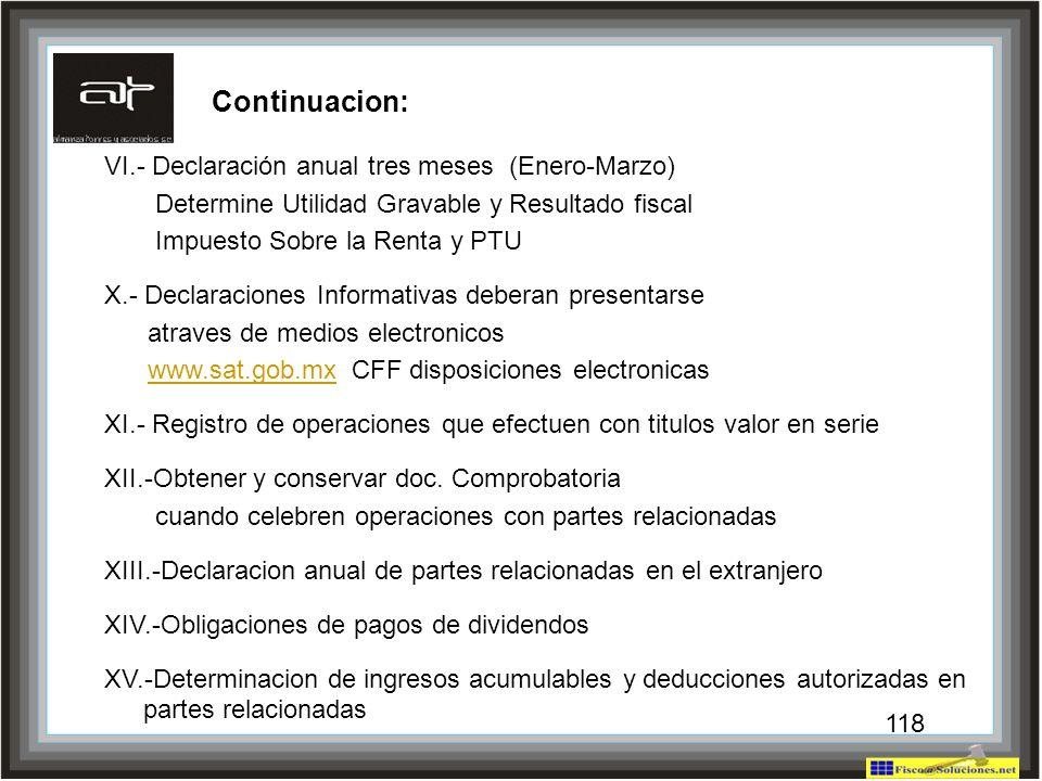 Continuacion: VI.- Declaración anual tres meses (Enero-Marzo)