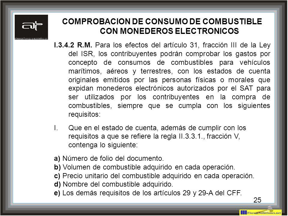COMPROBACION DE CONSUMO DE COMBUSTIBLE CON MONEDEROS ELECTRONICOS
