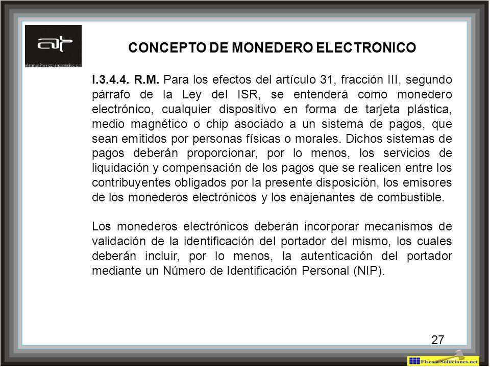 CONCEPTO DE MONEDERO ELECTRONICO