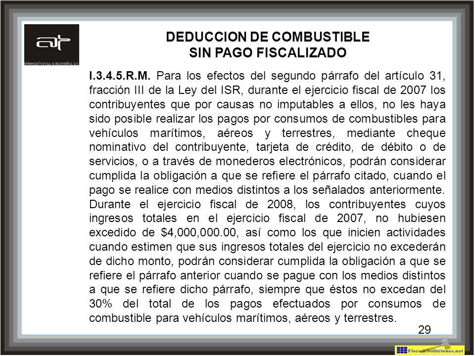 DEDUCCION DE COMBUSTIBLE
