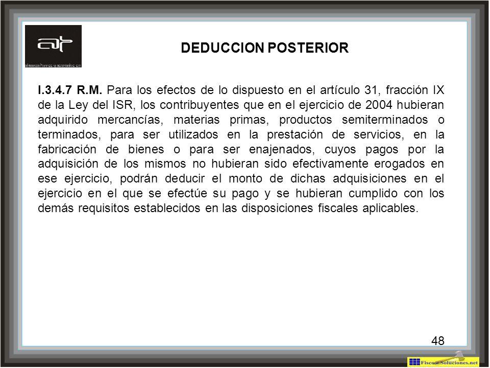 DEDUCCION POSTERIOR