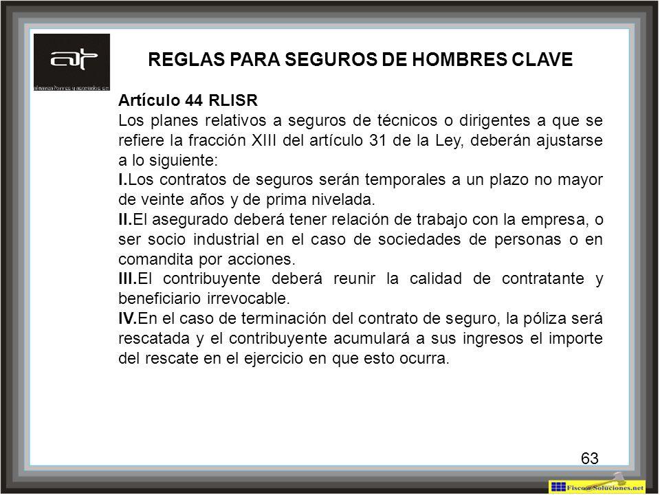 REGLAS PARA SEGUROS DE HOMBRES CLAVE
