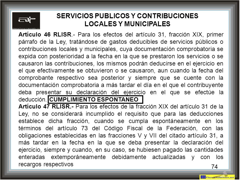 SERVICIOS PUBLICOS Y CONTRIBUCIONES LOCALES Y MUNICIPALES