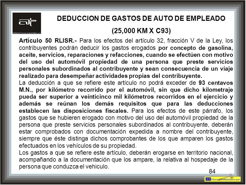 DEDUCCION DE GASTOS DE AUTO DE EMPLEADO