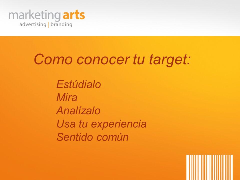 Como conocer tu target: