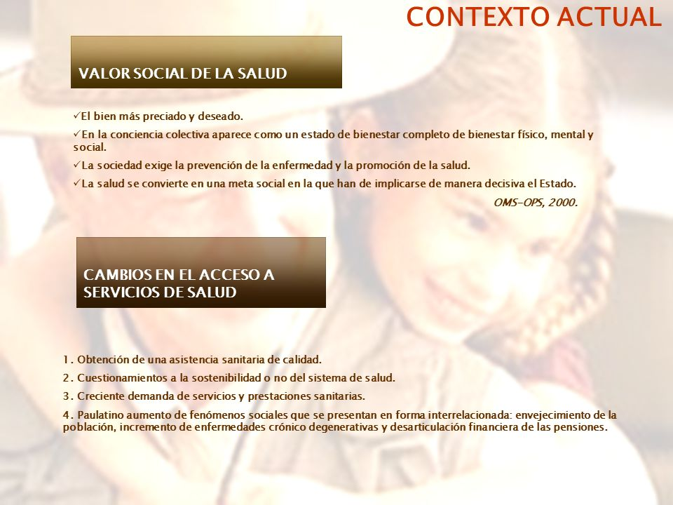 CONTEXTO ACTUAL VALOR SOCIAL DE LA SALUD