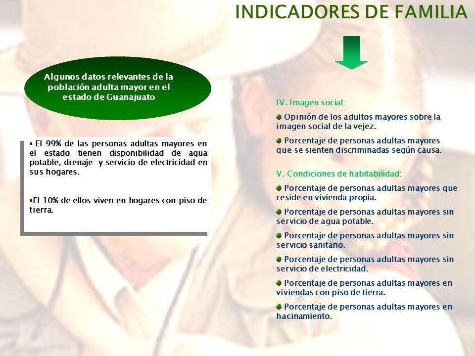 INDICADORES DE FAMILIA