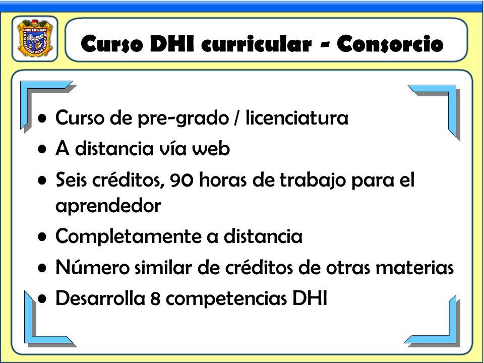 Curso DHI curricular - Consorcio