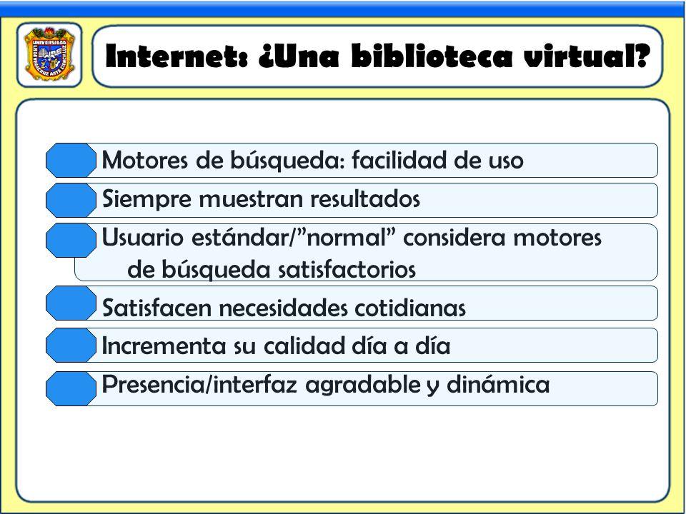 Internet: ¿Una biblioteca virtual