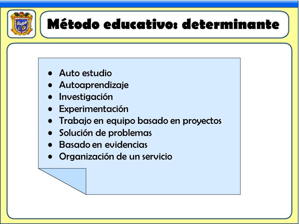 Método educativo: determinante