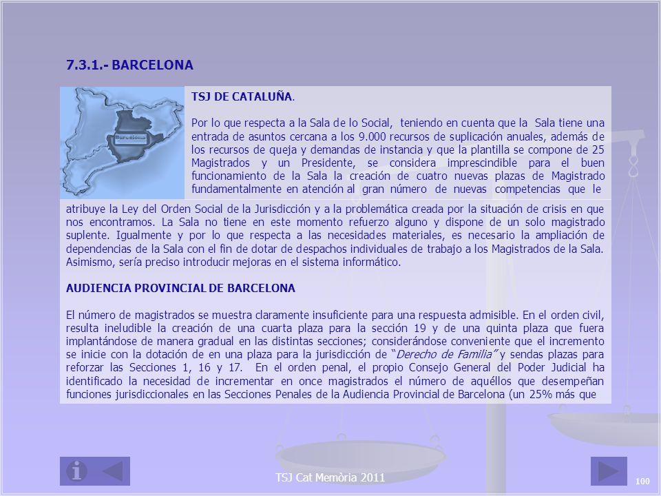 7.3.1.- BARCELONA TSJ DE CATALUÑA.