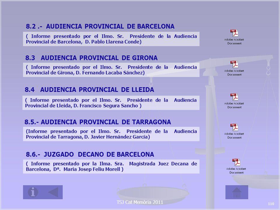8.2 .- AUDIENCIA PROVINCIAL DE BARCELONA