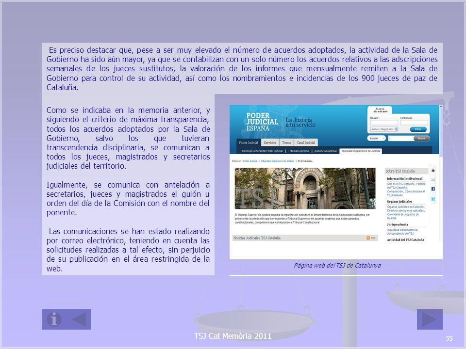 Página web del TSJ de Catalunya
