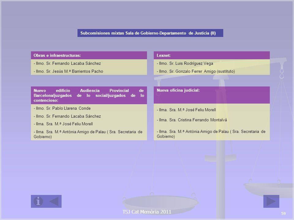 Subcomisiones mixtas Sala de Gobierno-Departamento de Justicia (II)