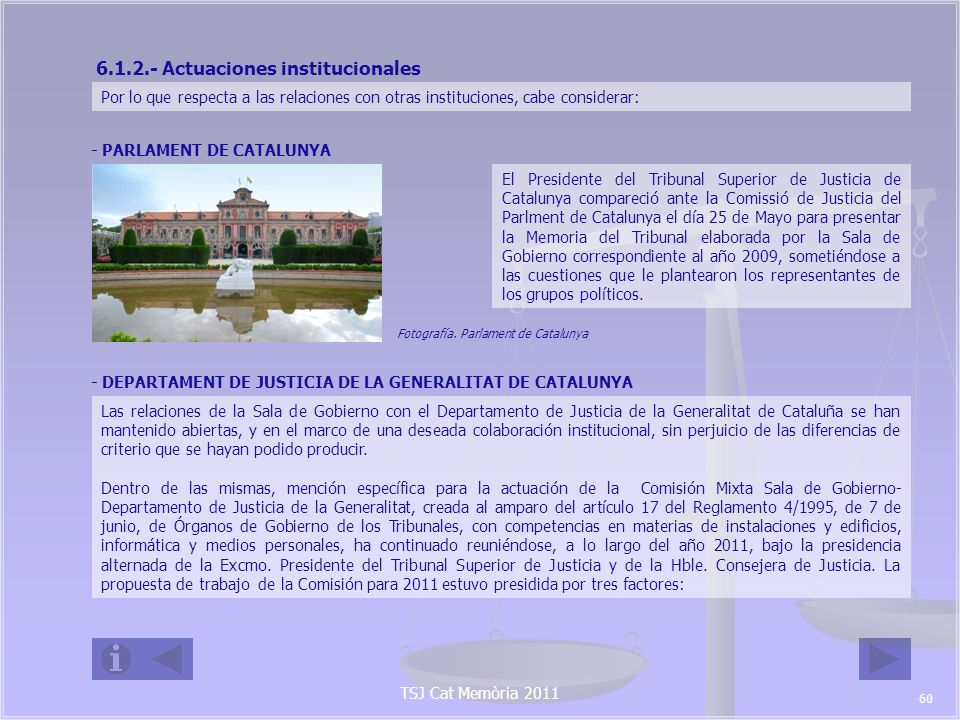 6.1.2.- Actuaciones institucionales
