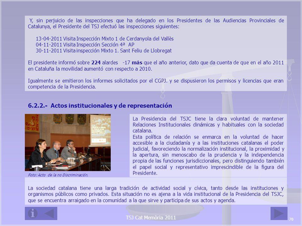 6.2.2.- Actos institucionales y de representación