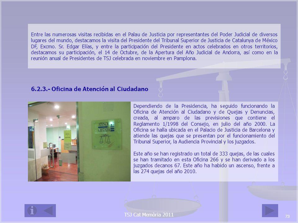 6.2.3.- Oficina de Atención al Ciudadano