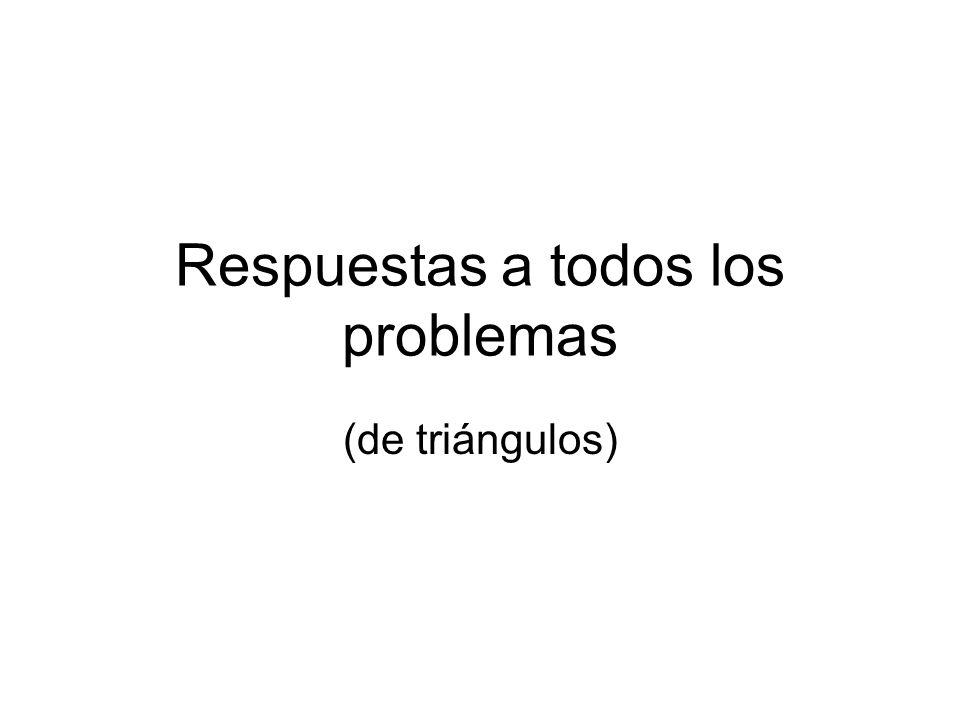 Respuestas a todos los problemas