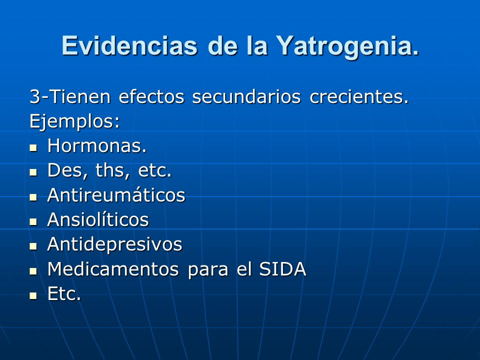 Evidencias de la Yatrogenia.