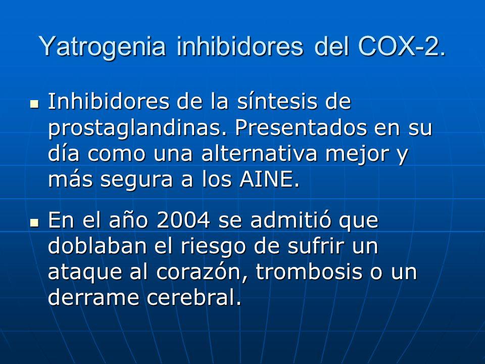 Yatrogenia inhibidores del COX-2.