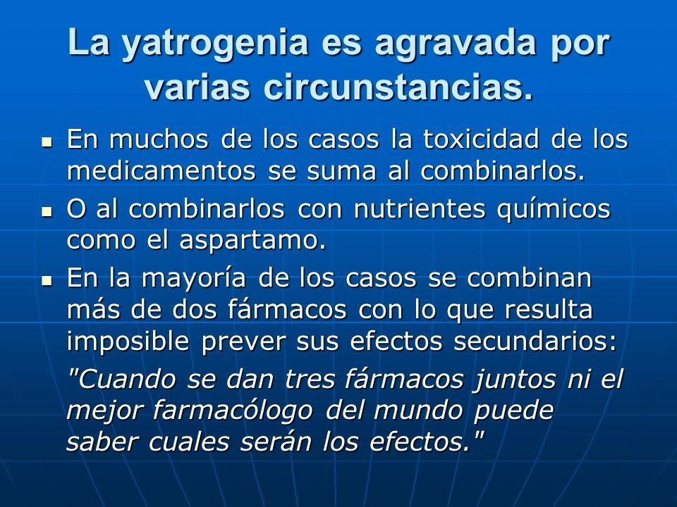 La yatrogenia es agravada por varias circunstancias.
