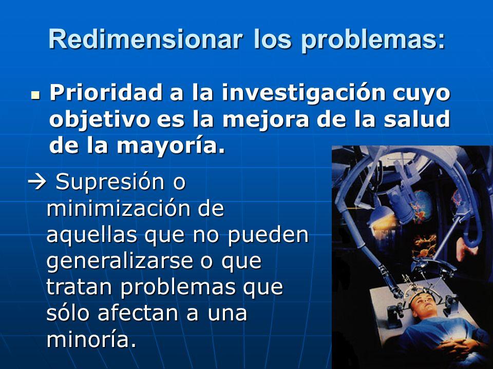 Redimensionar los problemas: