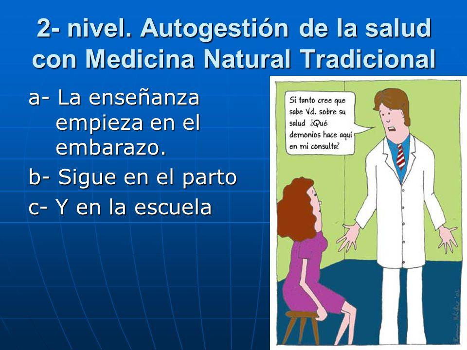 2- nivel. Autogestión de la salud con Medicina Natural Tradicional